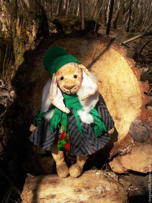 Мишки Тедди ручной работы. Ярмарка Мастеров - ручная работа. Купить Заяц тедди Верочка. Handmade. Желтый, весенний, плюш