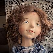 Куклы и игрушки ручной работы. Ярмарка Мастеров - ручная работа Девочка в голубом. Handmade.