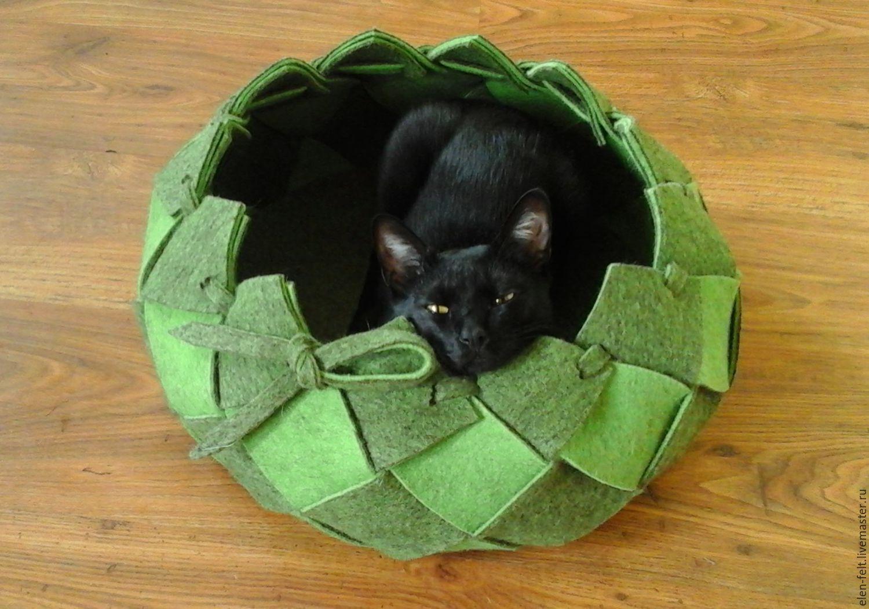 Как сделать лежанку для кота : кроватки, подстилки из подручных 28