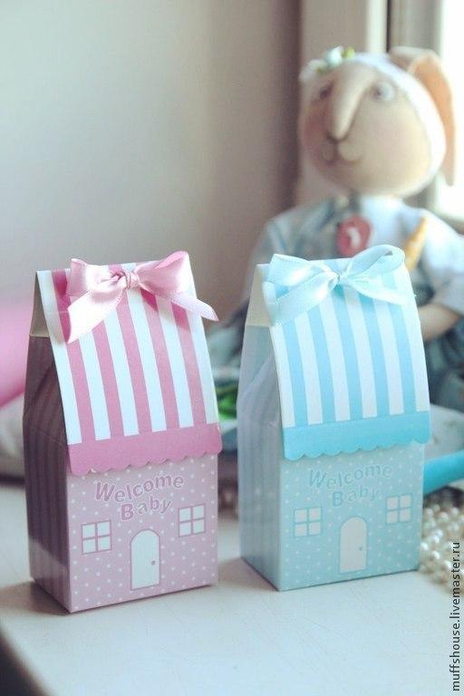 """Подарки для новорожденных, ручной работы. Ярмарка Мастеров - ручная работа. Купить Коробочка """"Welcome baby!"""". Handmade. Розовый, на рождение мальчика"""