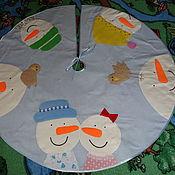 Ковры ручной работы. Ярмарка Мастеров - ручная работа Коврик под ёлку ,юбка для ёлки. Handmade.