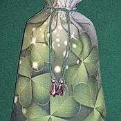 """Фен-шуй и эзотерика ручной работы. Ярмарка Мастеров - ручная работа Мешочек для карт таро """"Клевер"""". Handmade."""