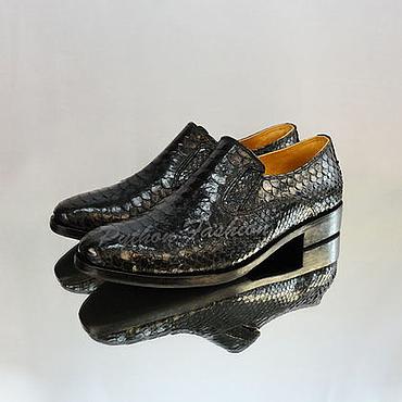 Обувь ручной работы. Ярмарка Мастеров - ручная работа Туфли из кожи питона GABRIEL. Handmade.