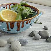 Посуда ручной работы. Ярмарка Мастеров - ручная работа БРОНЬ!!!Berry bowl Голубика с корицей. Handmade.