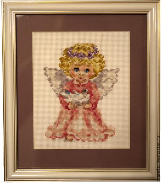 Детская ручной работы. Ярмарка Мастеров - ручная работа. Купить Ангелок. Handmade. Розовый, белый, ангел, ангелочек, Метрика для девочки