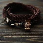 handmade. Livemaster - original item Bracelet with a Hammer ,the hammer of Perun ,leather bracelet with a hammer. Handmade.