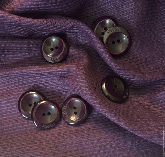Шитье ручной работы. Ярмарка Мастеров - ручная работа. Купить Пуговицы Max Mara оригинал фиолетовые. Handmade. Фиолетовый