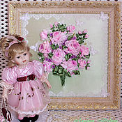 """Картины и панно ручной работы. Ярмарка Мастеров - ручная работа """"Розовые розы"""". Handmade."""