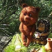 Куклы и игрушки ручной работы. Ярмарка Мастеров - ручная работа Ежик и медвежонок. Handmade.