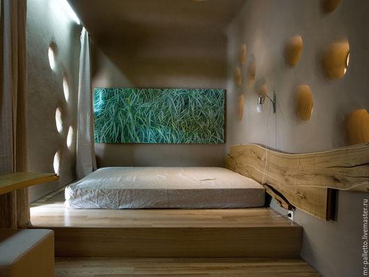 Мебель ручной работы. Ярмарка Мастеров - ручная работа. Купить Кровать подиум ручной работы. Handmade. Натуральное дерево