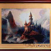 Картины и панно ручной работы. Ярмарка Мастеров - ручная работа Вышитая картина Таинственный замок. Handmade.