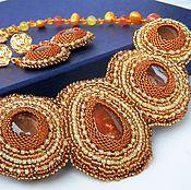 Украшения handmade. Livemaster - original item Necklace and earrings of beaded ART.30643.. Handmade.