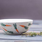 Посуда handmade. Livemaster - original item Gravy with carrots, ceramics, handmade. Handmade.