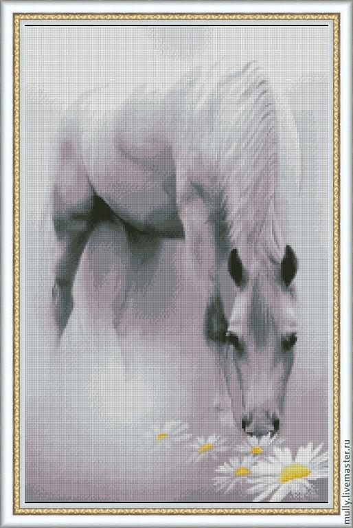 Купить Лошадь в тумане- схема