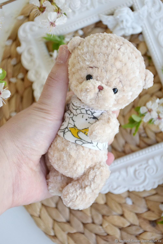Тедди мишка вязаный малыш, Мягкие игрушки, Сосновый Бор,  Фото №1
