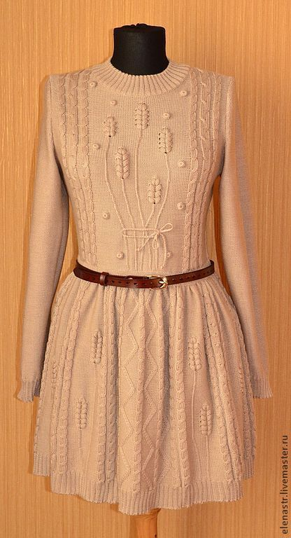 """Платья ручной работы. Ярмарка Мастеров - ручная работа. Купить Платье """"колоски"""". Handmade. Вязаное платье, вязание на заказ"""