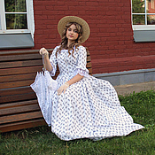 Одежда handmade. Livemaster - original item Walking historical dress