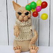 Куклы и игрушки ручной работы. Ярмарка Мастеров - ручная работа Кот сфинкс Крюгер (авторская игрушка). Handmade.