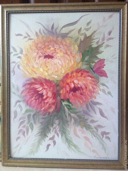 Картины цветов ручной работы. Ярмарка Мастеров - ручная работа. Купить Пионы. Handmade. Белый, холст на картоне, пионы