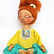 """Куклы и игрушки ручной работы. Ярмарка Мастеров - ручная работа Тыквоголовка """"йога Йошенька"""". Handmade."""