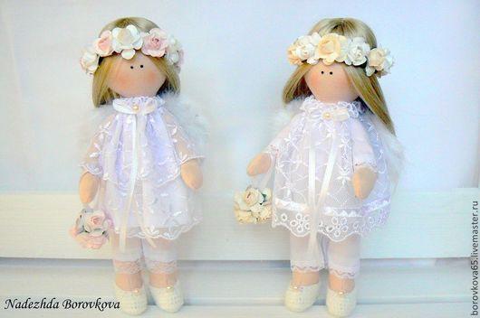 Коллекционные куклы ручной работы. Ярмарка Мастеров - ручная работа. Купить Ангелы. Handmade. Белый, подарок девочке, синтепон, кружево