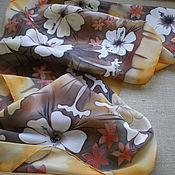 """Аксессуары ручной работы. Ярмарка Мастеров - ручная работа Батик шарф """"корица, мед и белый шоколад"""". Handmade."""