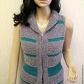"""Одежда ручной работы. Ярмарка Мастеров - ручная работа Вязаный жилет """"Fur WOOL"""". Handmade."""