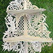 Для дома и интерьера ручной работы. Ярмарка Мастеров - ручная работа Полка резная Ангел. Handmade.