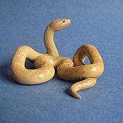 handmade. Livemaster - original item Brown Snake from a mammoth Tusk.. Handmade.