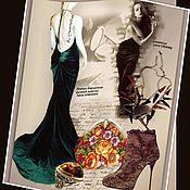 Одежда handmade. Livemaster - original item Velvet dress
