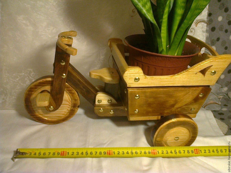 кашпо-велосипед