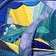 """Пейзаж ручной работы. Серия """"Краски весны"""". Лоскутная палитра. Ярмарка Мастеров. Абстракция, текстиль"""