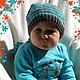 Для новорожденных, ручной работы. Ярмарка Мастеров - ручная работа. Купить Комплект вязаный - Милый гномик - шапочка+носочки. Handmade.
