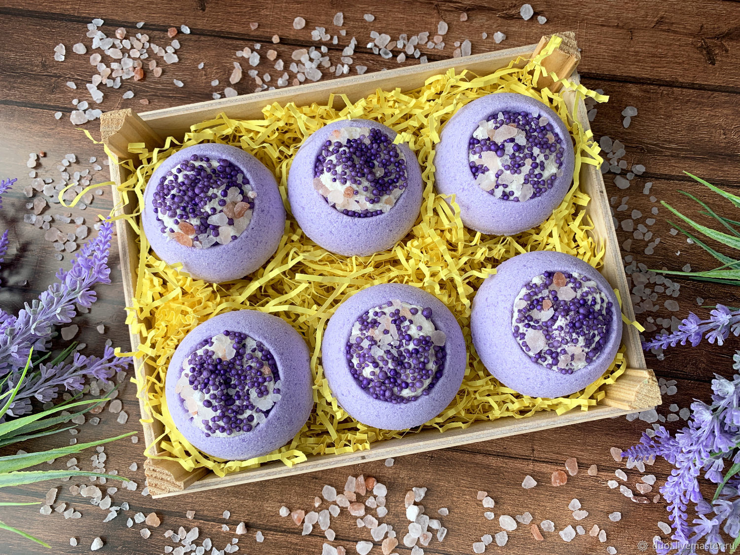 Bombs-bowls with praline and pearls Lavender set, Bombs, Moscow,  Фото №1