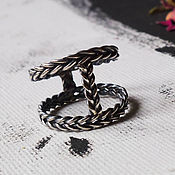 Rings handmade. Livemaster - original item Corselet woven ring - Silver ring 925. Handmade.