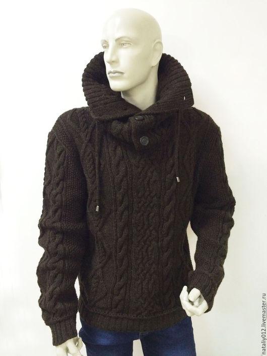 """Кофты и свитера ручной работы. Ярмарка Мастеров - ручная работа. Купить Свитер вязаный мужской """"АРАНЫ""""-100% шерсть. Handmade."""