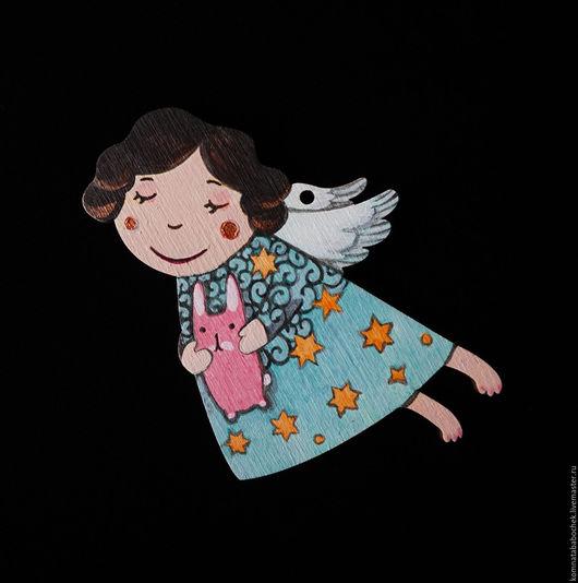 Подвески ручной работы. Ярмарка Мастеров - ручная работа. Купить Ангел с розовым зайцем. Handmade. Подвеска ангел, пасхальный декор
