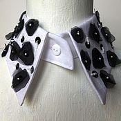 Аксессуары handmade. Livemaster - original item White embellished collar A La Chanel. Handmade.