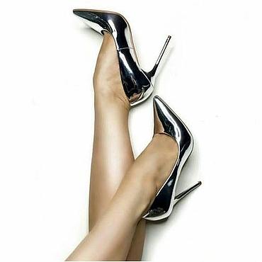 """Обувь ручной работы. Ярмарка Мастеров - ручная работа Туфли женские  """"Серебро"""" ( работа на заказ ) арт 819. Handmade."""