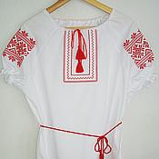 """Русский стиль handmade. Livemaster - original item Сорочка-вышиванка женская """"Спарыш"""". Handmade."""