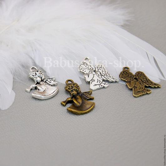 """Куклы и игрушки ручной работы. Ярмарка Мастеров - ручная работа. Купить Подвеска """"Ангел"""". Handmade. Золотой, подвески, ангелочек, бронза"""