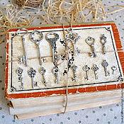 Бусины ручной работы. Ярмарка Мастеров - ручная работа Ключ серебро разные размеры. Handmade.