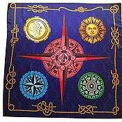 Фен-шуй и эзотерика handmade. Livemaster - original item Handkerchief Shawl Cape wind rose Blue sea. Handmade.