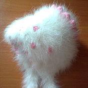 Работы для детей, ручной работы. Ярмарка Мастеров - ручная работа Детская шапка из кроличьего пуха. Handmade.