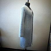 Одежда ручной работы. Ярмарка Мастеров - ручная работа Пальто вязанное узором соты. Handmade.