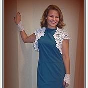 """Одежда ручной работы. Ярмарка Мастеров - ручная работа Болеро, платье, митенки :"""" Мелодия"""". Handmade."""