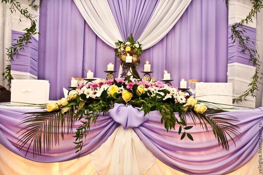 Свадебные аксессуары ручной работы. Ярмарка Мастеров - ручная работа. Купить Оформление стола жениха и невесты. Handmade. Бледно-розовый