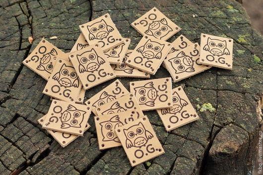 Упаковка ручной работы. Ярмарка Мастеров - ручная работа. Купить Бирочки 15. Handmade. Бежевый, этикетки, тиснение по коже