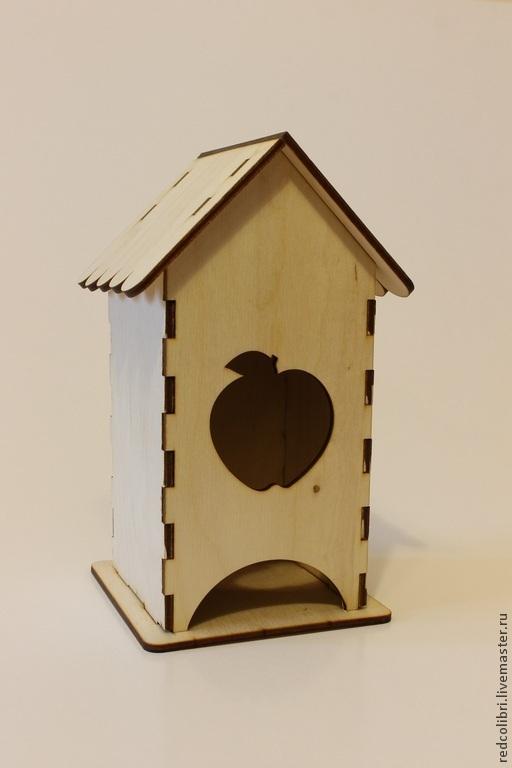 Декупаж и роспись ручной работы. Ярмарка Мастеров - ручная работа. Купить Чайный домик с яблоком - заготовки для декупажа. Handmade.