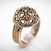 Украшения ручной работы. Ярмарка Мастеров - ручная работа Высокое кольцо, перстень из бронзы, мужское или женское кольцо. Handmade.
